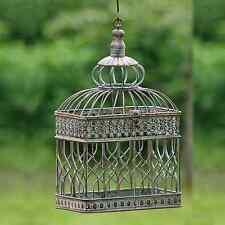 Vogelkäfig Deko / Briefbox Hochzeit - Antik Metall braun Kolonialstil H39cm