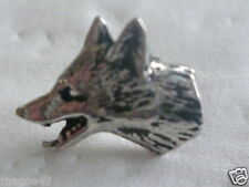 Fox mask/head pin badge or tie tac