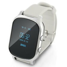 T58 Kid GPS Bluetooth Smart Wrist Watch Phone for Android IOS Children Silver