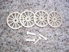WAGON & CANNON WHEELS - 1½  Inch Diameter MDF - wood stage coach hand cart trek
