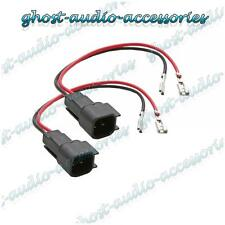Pair of Speaker Connector Adaptor Lead Cable Plug for Mazda 2