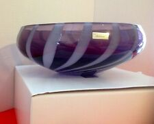 "URBAN SAFARI Waterford Evolution LARGE Striped 10"" Plum Bowl  NIB TAGS  LAST ONE"