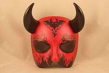 Halloween Devil Mask Mens Satan Fancy Dress Costume Large Masked Ball Face Horns