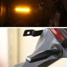 1 Pair Black Universal Motorcycle Amber Blinker Light LED Turn Signal Indicators