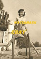 "Donna Mae) ""Busty"" Brown 1950s-Pinup Girl, Burlesque Dancer, Vintage-Photo"