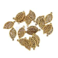 20x Gold Tree Leaves Charms Pendants Findings Necklace Bracelet Jewelry DIY