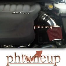 BLACK & RED 2011-2014 CHRYSLER 200 3.6 3.6L Pentastar V6 AIR INTAKE KIT SYSTEMS