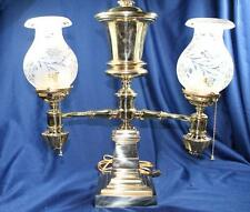 BRASS  ARGAND 1860 LAMP ASTRAL SOLAR SHADES