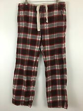ABERCROMBIE & FITCH Men's Medium THICK Flannel Plaid Lounge Sleep Pajama Pants