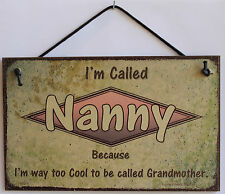 Nanny s Sign Retro Grandma Vintage Best Mom Cool Mother Day Parent Gift Decor #1