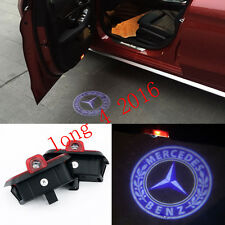 2x LED door step courtesy laser projector light For Benz C-Class W204 08-14 Blue