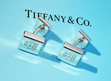 Tiffany & Co Sterling Silver Mens 1837 Square Cuff Links