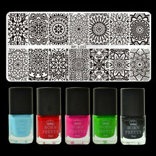 6pcs/set Mandala Floral Design Nail Art Stamping Polish Set Stamp Image Plate