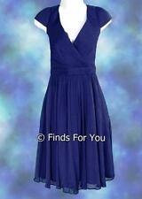 J Crew Mirabelle Dress Silk Chiffon 14 66737 $265 Cocktail Bridesmaid Cove Blue