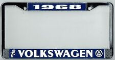 1968 Volkswagen VW Bubblehead Vintage California License Plate Frame BUG BUS T-3