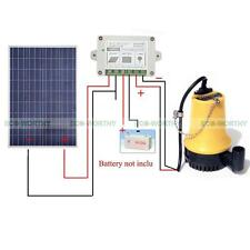 Water Pump 12V System w/100W Solar Panel & 15A Controller for Watering Washing