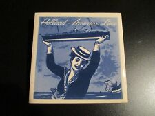 HOLLAND AMERICA CRUISE LINE delft deco tile coaster SAILOR SHIP woman
