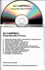 ALI CAMPBELL Flying High 2009 UK 12-track promo test CD UB40