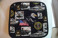 2 Handmade Pot Holders - US ARMY, Military, Armed Forces, 100% Cotton, Lined