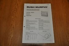 Vintage Service Manual. Bush / Murphy BV5651 AM / FM radio Receiver. TP1911