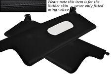 Black stitch fits CITROEN CX 85-92 2x pare-soleil cuir couvre uniquement