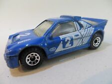 MATCHBOX SUPERFAST 34 FORD RS200 BLUE #2 RALLY CAR. VINTAGE. GOOD. MB34
