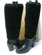 Ugg Ava Exposed Fur Black Women Boots US8/UK6.5/EU39
