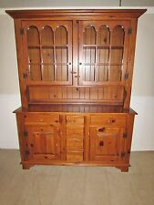 ETHAN ALLEN COUNTRY CRAFTSMAN CHINA HUTCH, CABINET, DUTCH CUPBOARD 19-6318