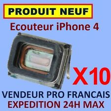 ✖ LOT DE 10 MODULES ECOUTEURS HAUT PARLEUR INTERNE IPHONE 4 ✖ NEUF GARANTI 24H
