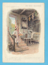 AU  BON  MARCHE  (FRANCE)  -  VERY  RARE  XXL  ADVERTISING  CARD   (6)