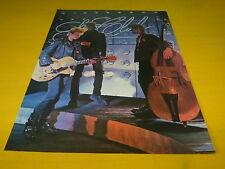 STRAY CATS & ERIC CLAPTON - Mini poster couleurs recto verso  !!!!!!!