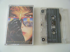 ICON RIGHT BETWEEN THE EYES CASSETTE TAPE ATLANTIC MEGAFORCE 1989