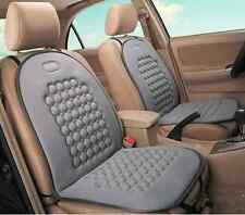 Pair of Gray Automatic Car Home Office Magnetic Bead Massage Pad Seat Cushion