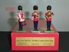 BRITAINS 40202 SCOTS GUARDS BAND SIDE DRUM CLARINET FRENCH HORN TOY SOLDIER SET