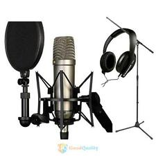 21cm Professional Condenser Microphone Shock Mount with Pop Shield Filter Screen