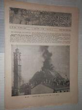 Incendio della cupola di San Carlo a Milano Scavi della Monga canale di Kiel e