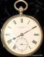 G.S.PATTERSON BUCKIE ANTIQUE SOLID SILVER GENTS CHAIN FUSEE POCKET WATCH