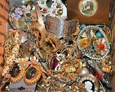 Vintage Costume Jewelry Lot For Repair, Wear 5 Lbs 3 oz