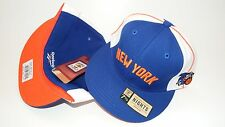 NEW HAT CAP FITTED REEBOK NBA NEW YORK KNICKS SIZE 7 1/2 BLUE WHITE ORANGE