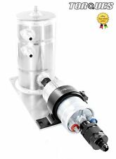 Bosch 044 Fuel Pump Swirl Surge Pot Tank Assembly AN-6 Check Valve Output Black
