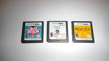 Lot of 3 Nintendo DS Games , Great Condition - Works Excellent ! All different