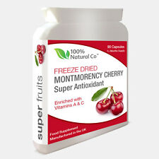 Montmorency Cherry Extract -  90 Capsules - Strongest on eBay 1500mg Daily Dose