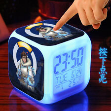 Overwatch Mei Alarm Clock OW Luminous Colorful Electronic Clock