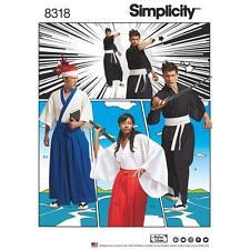 Simplicity Patrón 8318 Misses', Para hombre y Adolescentes Kimono Trajes