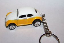 CUSTOM MADE..VW BUG/BEETLE (YELLOW/WHITE TOP) .. KEYCHAIN..GREAT GIFT!