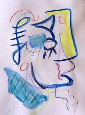 D. Schmidt 40x30 Portrait Malerei Zeichnung Grafik Kunst abstrakt expressiv d22