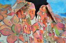 Etro Button Down Blouse Size 40 Europe Italy Cotton Blend Top Size 6 US Floral