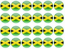 24 jamaica jamaican flag birthday bun fairy cupcake toppers party bag edible