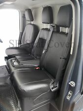 TO FIT FORD TRANSIT CUSTOM 2016 VAN SEAT COVERS MADE TO MEASURE LEATHERETTE