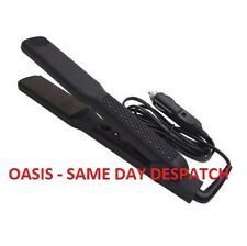 12V IN-CAR HAIR STRAIGHTENERS WITH 90MM X 35MM CERAMIC PLATES CARAVAN CAMPING